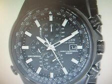 CITIZEN ECO-DRIVE MEN'S WATCH A.T ALL S/S IP BLACK RADIO CONT AT8025-51E NEW