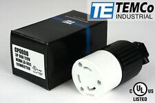 TEMCO NEMA L5-30C Female Plug 30A 125V Locking UL Listed for Generator RV Camper