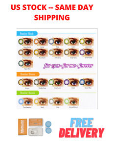 Colored Contact with  Case Multi Colors