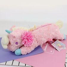 New Sanrio Little Twin Stars Unicorn Pink Plush Make Up Pencil Case Kid's Bag