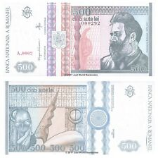 More details for romania 500 lei 1992 p-101a very low serial numbers 0002xx banknotes unc