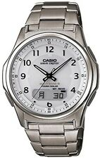 CASIO WAVE CEPTOR WVA-M630TDE-7AJF Titanium Solar Radio White Men's Watch Japan