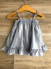 Baby Gap Girls Dress 12-18 Months Silver Ruffle Summer Party Holiday