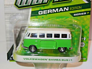 GREENLIGHT MOTOR WORLD GREEN & WHITE 1960's VOLKSWAGEN SAMBA BUS