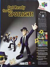 2000 PRINT AD - NINTENDO 64 N64 ...BLUES BROTHERS 2000..AD ONLY