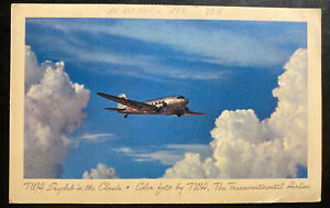 1946 Gander Newfoundland Picture Postcard Cove To Berne Switzerland TWA Airplane