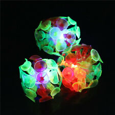 Plastic Soft Sucker Adhesive Glowing Ball TOY Kid Outdoor Fun Sport Game toy FO