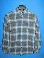 Eddie Bauer M Blue Gray Plaid Favorite Flannel Shirt Relaxed Fit Button Down Men
