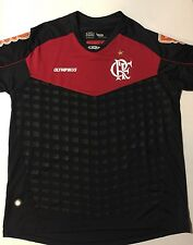 Olympikus CRF Flamengo Men's Home Goalie Jersey Red/Black  #1 Size L Ronaldinho