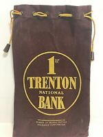 Vintage 1st Trenton National Bank Trenton New Jersey Coin Bag by A Rifkin Co. FS