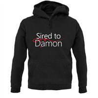 Sired To Damon - Hoodie / Hoody - Vampire - Salvatore - Fan - Love - Merch - TV