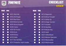 Fortnite Checklist Inhalts Karte 99 Serie 1 Basis 201 bis 250 Trading Card
