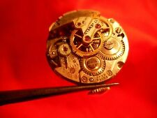 AS 1180 WATCH MOVEMENT RUNS SOLD FOR PARTS PLUS STEM CROWN HOUR WHEEL !
