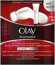 Olay Regenerist 3 Point Cleansing System Kit Exfoliating Face Wash & Face Brush