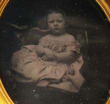 ANTIQUE AMERICAN BEAUTY DAGUERREOTYPE MUSEUM QUALITY 1/2 PLATE ANGEL GIRL PHOTO