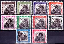 1963  HAUTE-VOLTA  Timbres de Service  Y & T  N° 1 à 10  Neufs *  AVEC CHARNIÈRE