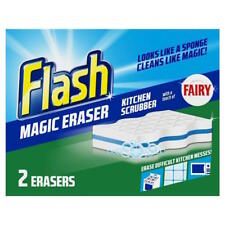 **  FLASH MAGIC ERASER KITCHEN SCRUBBER SPONGE RE-USABLE STAINS NEW ** FAIRY