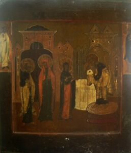 Fine 18/19th Vintage Century Russian Orthodox Icon