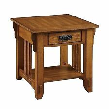 Coaster 702007 Drawer End Table With Shelf in Warm Brown Oak Finish
