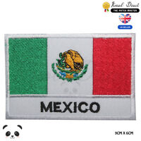 Mexico National Flag With Name Embroidered Iron On Sew On Patch Badge