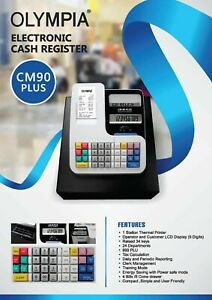 Cash Register Olympia CM90+ - Includes 5 FREE thermal paper rolls & Receipt Prog