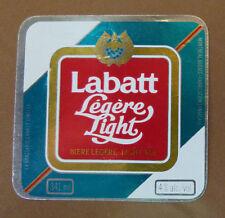 VINTAGE CANADIAN BEER LABEL - LABATTS QUEBEC, LABATTS LIGHT ALE 341 ML #2
