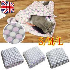 More details for uk soft pet blanket mat cover pet dog puppy cat coral fleece floor blanket k