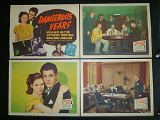 MARILYN MONROE FIRST MOVIE 8 LOBBY CARD SET -1947 DANGEROUS YEARS - DELINQUENCY