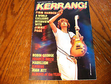 JIMMY PAGE THE FIRM KERRANG #84 1984 MARILLION JOAN JETT VG++