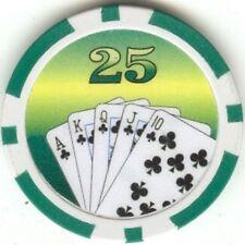 7 pc 7 colors Tournament Royal Flush poker chips samples set #165