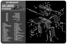 Sig Sauer P938 Armorers Gun Cleaning Bench Mat Exploded View Schematic NEW !