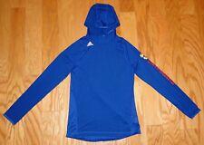 Adidas KU Kansas Jayhawks Hoodie Shirt NWOT Size MT Blue Climalite Women's