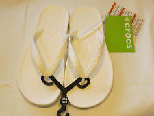 Crocs chawaii flip relaxed fit M9 W11 flip flops sandals thong white crocband