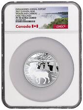 2017 Canada Endangered Animal Cutout Caribou Silver $30 NGC PF70 UC ER SKU46105