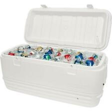 Igloo Polar Cooler Chest Cans Camping Outdoors Party Latch Drain White 120 qt