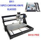 2IN1 Kit Metal Cnc 3018 Pro Cnc 30x18cm Engraving Machine 2.5W Laser Cutter ER11