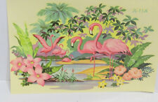 Vintage Meyercord JL-11A Pink Flamingos Giant Size Decal