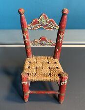 Artisan Hand painted Farmhouse Dolls House Chair 1:12 Scale