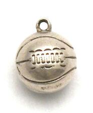 Vintage 1940's Laced Soccer Ball Bracelet Charm Sterling Silver Futbol Pendant