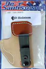 DeSantis Sof-Tuck IWB Tuckable Holster Bersa Thunder 380 Tan Suede Right Hand