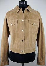 7 FOR ALL MANKIND Leather Jacket Femmes Daim Veste en Cuir Taille S Neuf avec D.