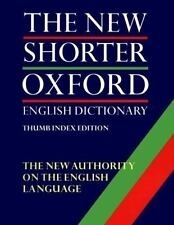 The New Shorter Oxford English Dictionary (2 Vol. Set; Thumb Indexed Edition), G