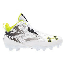 f46ca85819b5 NEW Mens Under Armour Ripshot Mid MC Lacrosse Cleats White Charcoal Choose  Size