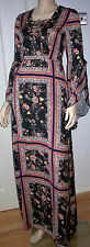 MISS SELFRIDGE Scarf Print Long Raglan Sleeve Maxi Dress Size 6 RRP £69 BNWT