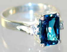 London Blue Topaz, 925 Sterling Silver Ladies Ring, SR171-Handmade