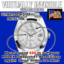 For Rolex Datejust 41 1263XX Clasp/Sides/Bezel/Crystal HD Clear Protectors Set 2