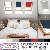 BLACKOUT THERMAL ROLLER ROOF SKYLIGHT BLINDS FOR ALL VELUX WINDOWS - 8 COLOURS