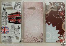 custodia cover case gRV damascata farfalla fiori per Nokia lumia N 730 735 dual