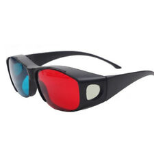 3D Vision Ultimate 3D Glasses Fit Over Prescription Glasses Red & Blue