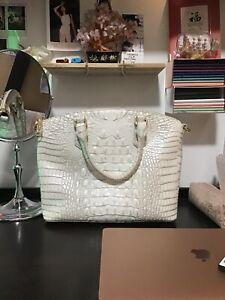 New never used white Brahmin handbag